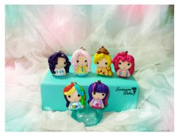 Super Chibi My Little Pony Humanized Charms by SentimentalDolliez