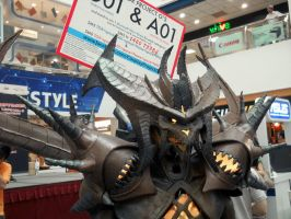 Diablo costume 80% closeup by Clivelee