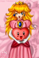 Princess Peach's Valentine art by SigurdHosenfeld