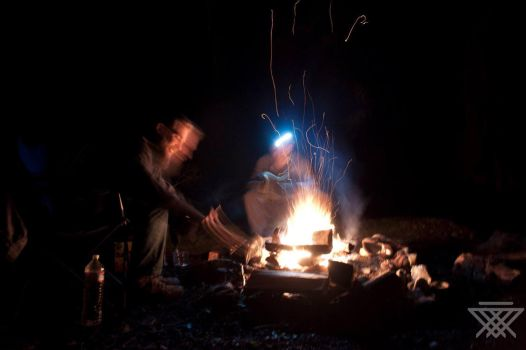 Camping with the crew by Fenlain