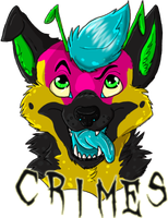 Crimes Badge by The-Shy-Violinist
