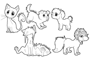 Many diffrent lineart - Free by mimmiley