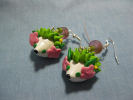 Shaymin Earrings by kitcat4056