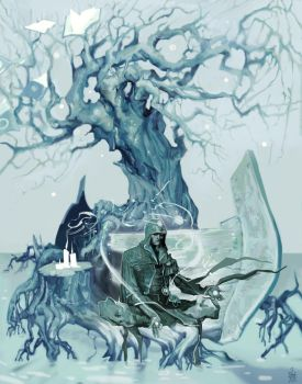 Jace Beleren - Tree of Antiquity by saprophilous