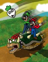 Super Mario Insanity by AtomicPhoton