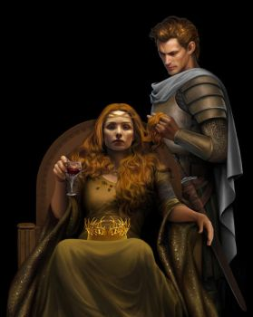 Jaime and Cersei by steamey