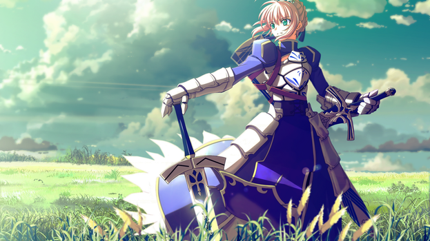 FSN - Saber Wallpaper by PT-Desu