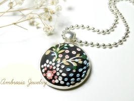 Polymer clay Necklace by Storyteller28