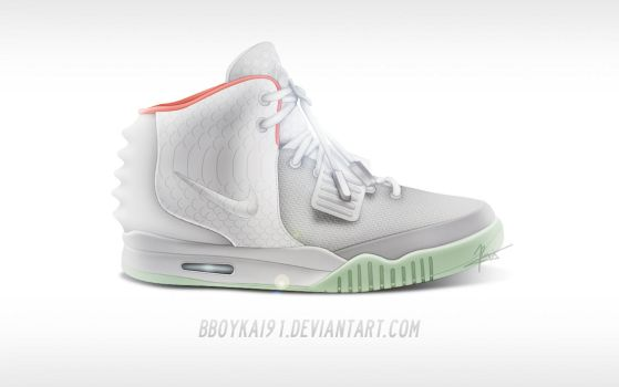 Nike Air Yeezy 2 NRG 'Platinum' by BBoyKai91