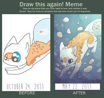 Draw this again meme by Magicpawed