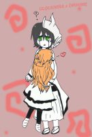 Ulquiorra hug Orihime xD by Riku-Fan-girL