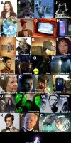 Doctor Who alphabet by CPD-91
