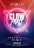 Glow Party | Psd Flyer Template by RomeCreation