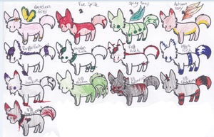 5 Point Adopts (12/13 open) by AvalaAdopts