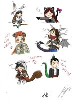 Chibi Assassins Collabs by NocturnaDraco
