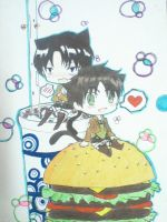 ~Chibi Neko Eren and Levi~ by Mewtwosama10299