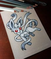 Albino Sylveon by danniichan