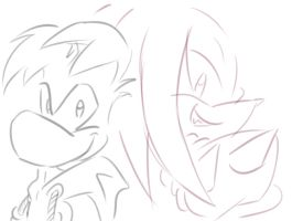 Ray and Knux by amberday