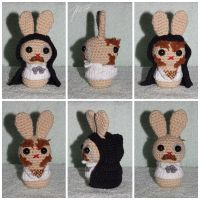 The Crocheted: Jekyll and Hyde Bunny by janey-in-a-bottle