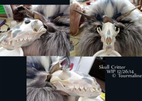 Skull Critter WIP by tourmaline-83