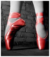 The Red Ballet Shoe by xxkattieer