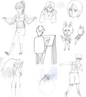 Sketch Dump 3 by MazokuCreations