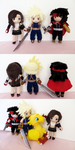 Cloud, Tifa and Vincent - Final Fantasy VII by Squisherific