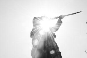 The soldier in the sun by MikeyHramiak