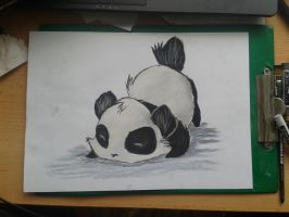 Panda drawing by miki4212