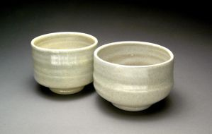 Wood Fired Bowls with Blue Celadon Glaze by YuishCeramics