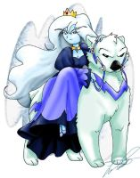Ice Queen and Gertrude by paradoxal