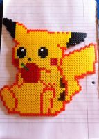 Eating pikachu - perler beads (updated) by Rest-In-Pixels