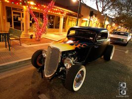 Hot HotRod on Main Street by Swanee3