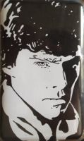 Angry Sherlock iPod by BossHossBones