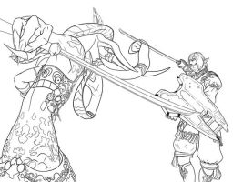 FFXI Lineart Sample by NKato