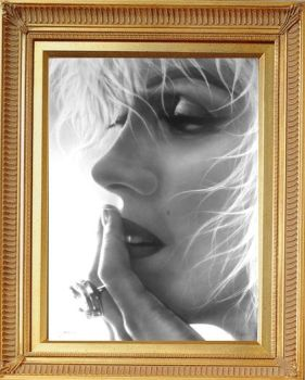 Marilyn Swept  Drawing by Timeless-Faces