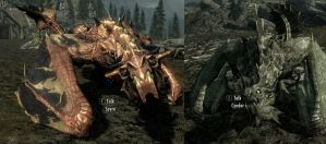 My new followers in Skyrim by XxZacharyWxX