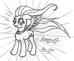 2012-04-05-Fluttershy the Hero by Valorcrow