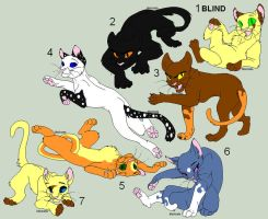 Cat Adoptables 3- CLOSED by TazzyDragon
