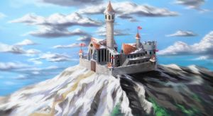 Castle on the top of the mountain by fantazyme