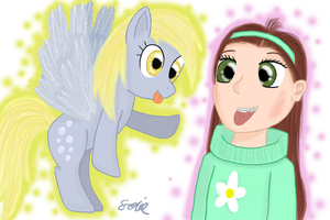Derpy and Mabel by Lomise