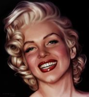 Marilyn Monroe by ChristineGourvest