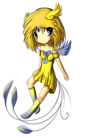 CanaryCharm Chibi by Bewinxed