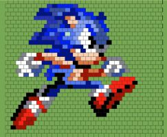 Sonic beading pattern peyote stitch vertical by dragonariaes
