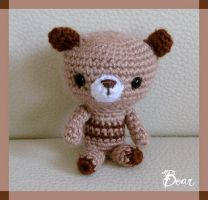 Bear Brown Amigurumi by CarolBarajas