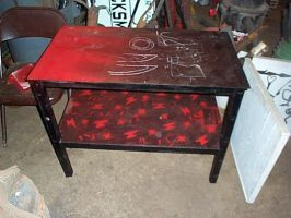 Grinder stand table paintjob by sstheblacksmith