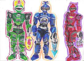 Big Bad Beetleborgs - Halo Inspired by LavenderRanger
