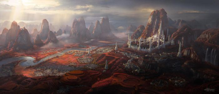 C.O.T: The Elven Empire Capital City - Silver Arch by wang2dog