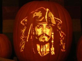 Jack Sparrow Pumpkin by kenklinker