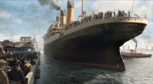 Titanic leaves Southampton dock by lusitania25